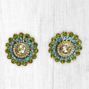 New Lauren Conrad Green and Blue Earrings